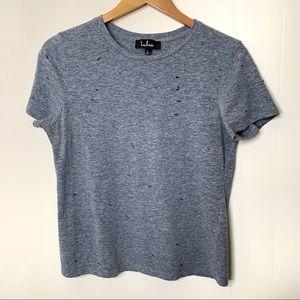 Lulu's distressed tee shirt size large